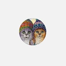 The knitwear cat sisters Mini Button