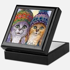 The knitwear cat sisters Keepsake Box