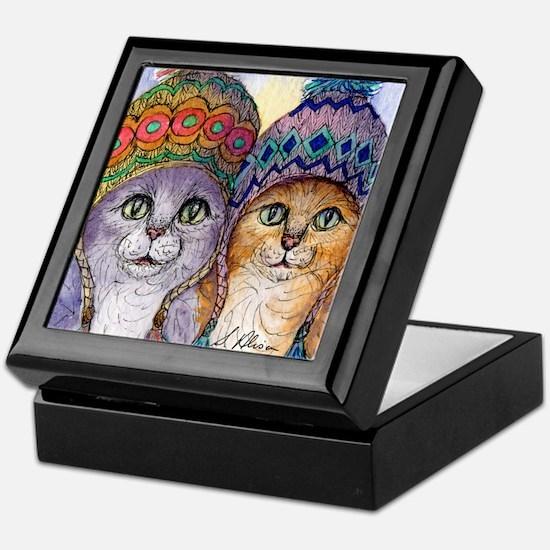 The knitwear cat sisters Keepsake Box