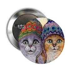 "The knitwear cat sisters 2.25"" Button"