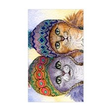 The knitwear cat sisters Decal