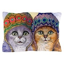 The knitwear cat sisters Pillow Case