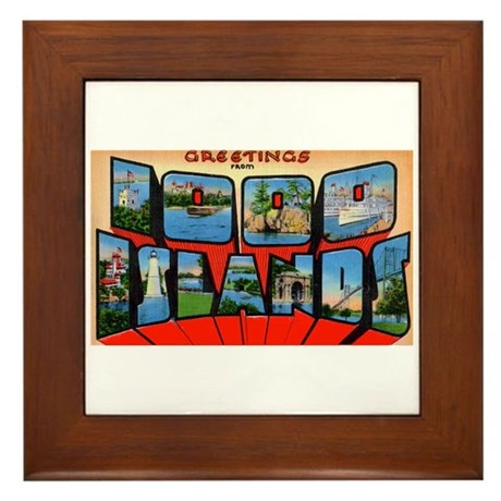 1000 Islands New York Framed Tile