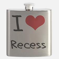 I Love Recess Flask