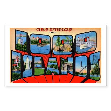 1000 Islands New York Rectangle Sticker