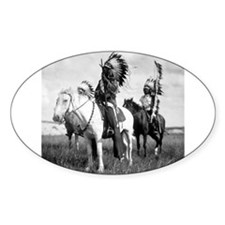 Plains Warriors Oval Decal