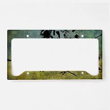 Grunge Hummingbird License Plate Holder