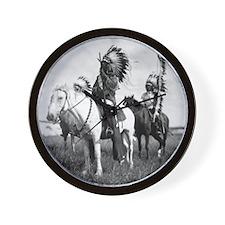 Plains Warriors Wall Clock