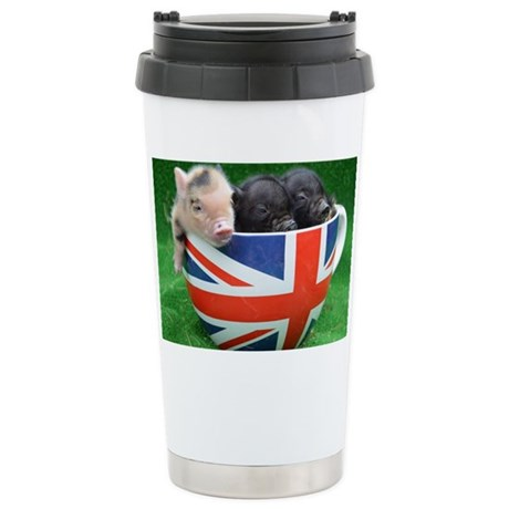 Tea Cup Piggies Stainless Steel Travel Mug