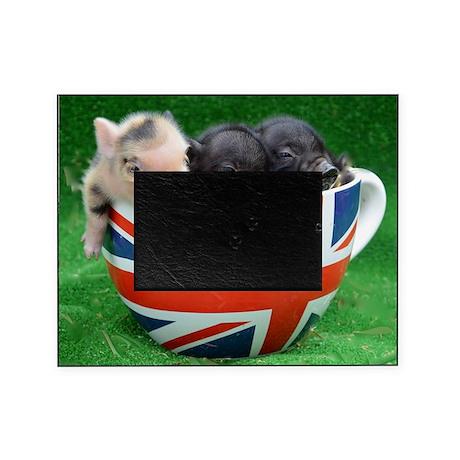 Tea Cup Piggies Picture Frame