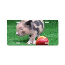 Peach as a Pig Aluminum License Plate