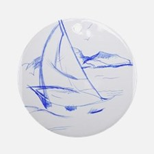 Ink Boat Ornament (Round)