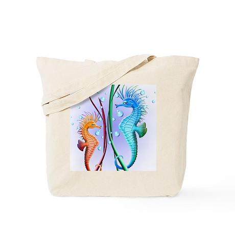 Seahorses Cartoon Tote Bag