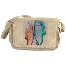 Seahorses Cartoon Messenger Bag