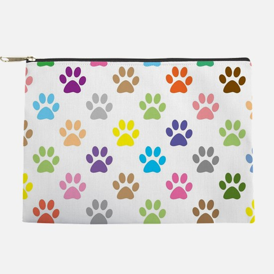 Colorful puppy paw print pattern Makeup Pouch