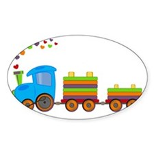 Colorful Toy Train Decal