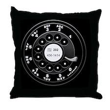 rotary-phone-dial-PLLO Throw Pillow