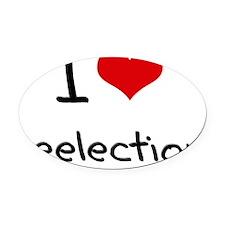 I Love Reelection Oval Car Magnet