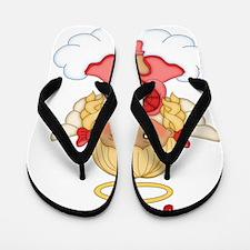 July Birth Girl Flip Flops