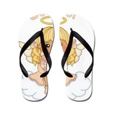 October Birth Girl Flip Flops