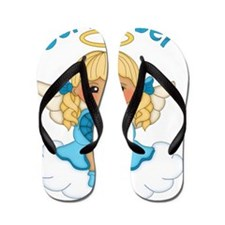September Birth Girl Flip Flops