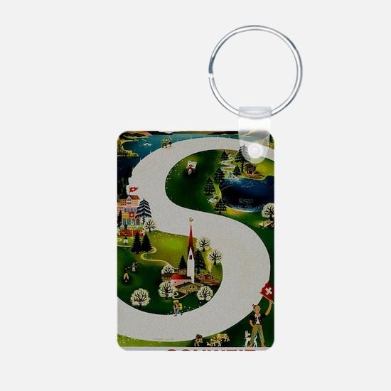 Vintage Switzerland Travel Keychains