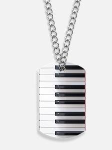 Piano Keyboard Keys Dog Tags