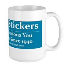 Providing Opinions Bumper Sticker Mug