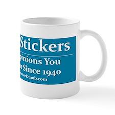 Providing Opinions Bumper Sticker Small Mug