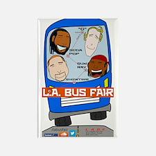 L.A. Bus Fair Rectangle Magnet