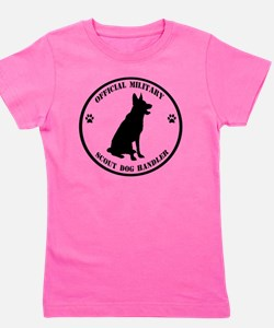 Official Military Scout Dog Handler Girl's Tee