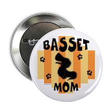 Basset Hound Mom Button