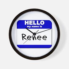 hello my name is renee  Wall Clock