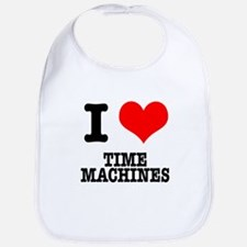 I Heart (Love) Time Machines Bib