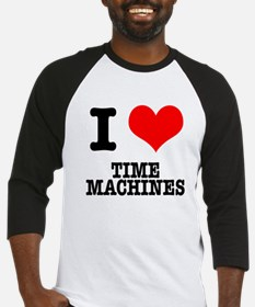 I Heart (Love) Time Machines Baseball Jersey