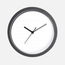 Daughter Rules Wall Clock
