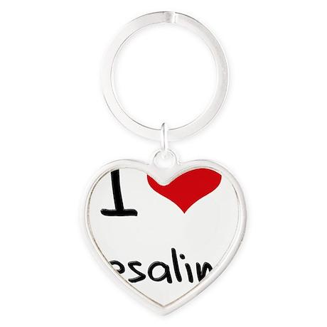 I Love Resaling Heart Keychain