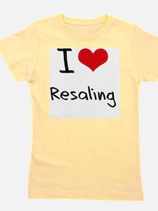 I Love Resaling Girl's Tee