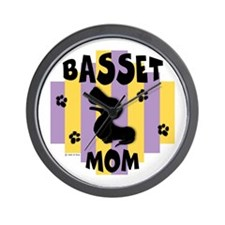Basset Hound Mom Wall Clock