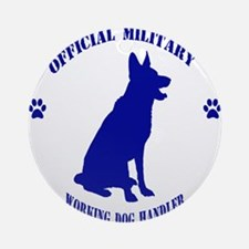 Blue Official Military Working Dog  Round Ornament
