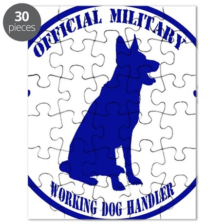 Blue Official Military Working Dog Handler Puzzle By ADMIN