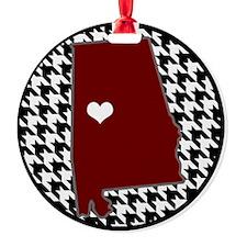 Roll Tide in my Heart Ornament