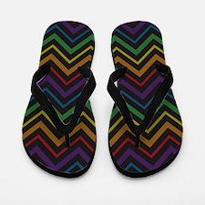Rainbow Chevron Journal Flip Flops