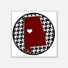 "Heart of Alabama  Square Sticker 3"" x 3"""