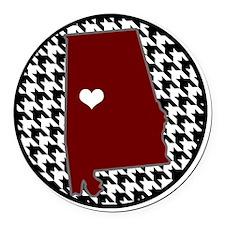 Heart of Alabama  Round Car Magnet