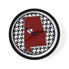 Heart of Alabama  Wall Clock