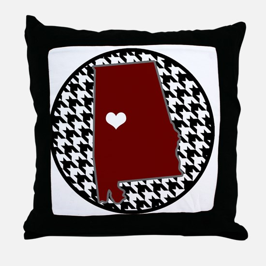 Heart of Alabama  Throw Pillow