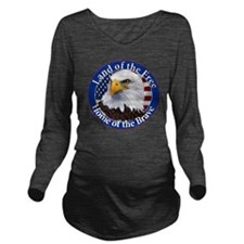 Land Of The Free Hom Long Sleeve Maternity T-Shirt