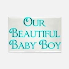 Our Beautiful Baby Boy-lt blue Rectangle Magnet