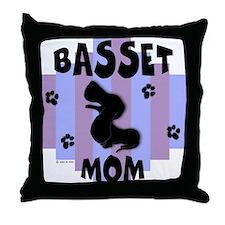Basset Hound Mom Throw Pillow